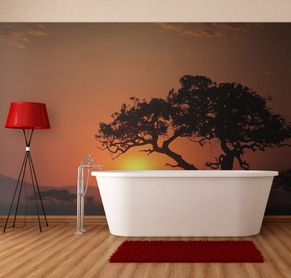 Фототапет - Africa: sunset, Фототапети, Пейзажи