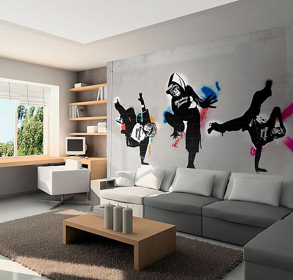 Фототапет - Monkey dance - street art, Фототапети, Фототапети