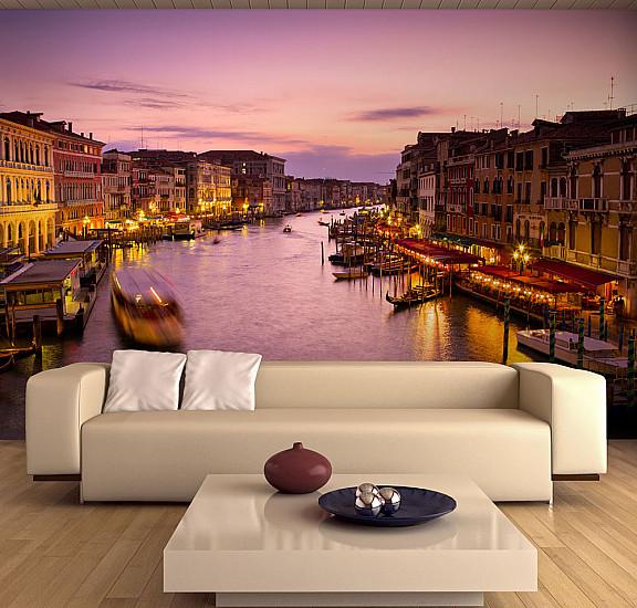 Фототапет - City of lovers, Venice by night, Фототапети