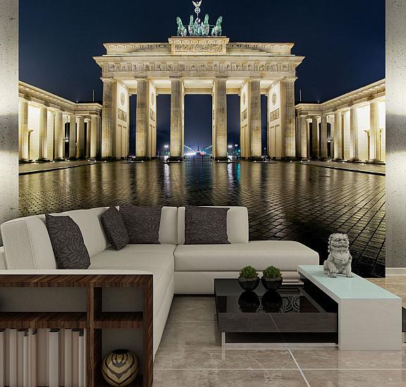 Фототапет - Brandenburg Gate at night, Фототапети
