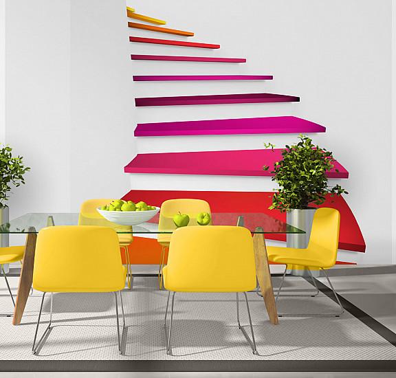 Фототапет - Colorful stairs, Фототапети, Фототапети