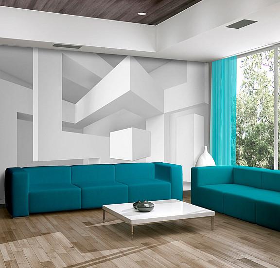 Фототапет - White geometry, Фототапети, Фототапети