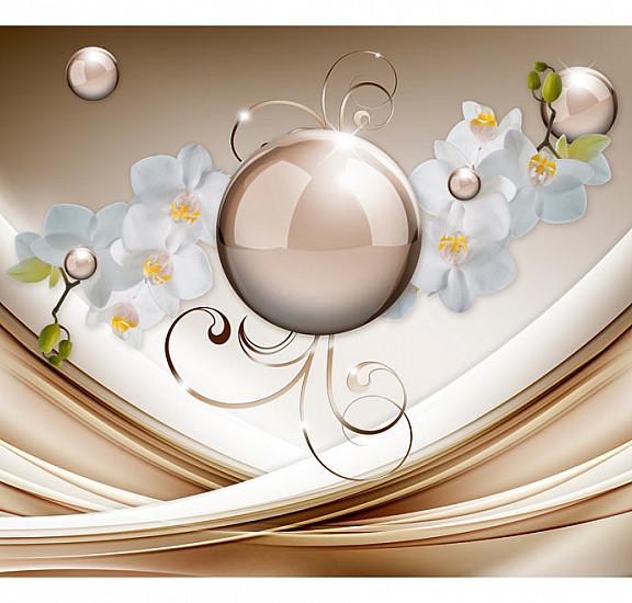 Фототапет - Golden Abstract, Фототапети, Цветя