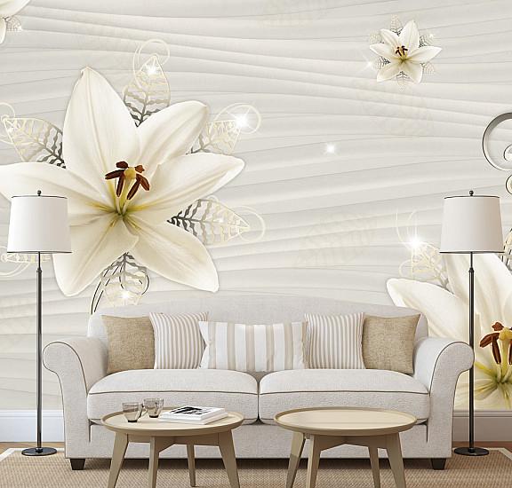 Фототапет - Creamy Illusion, Фототапети, Цветя