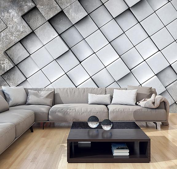Фототапет - Gray background 3D, Фототапети