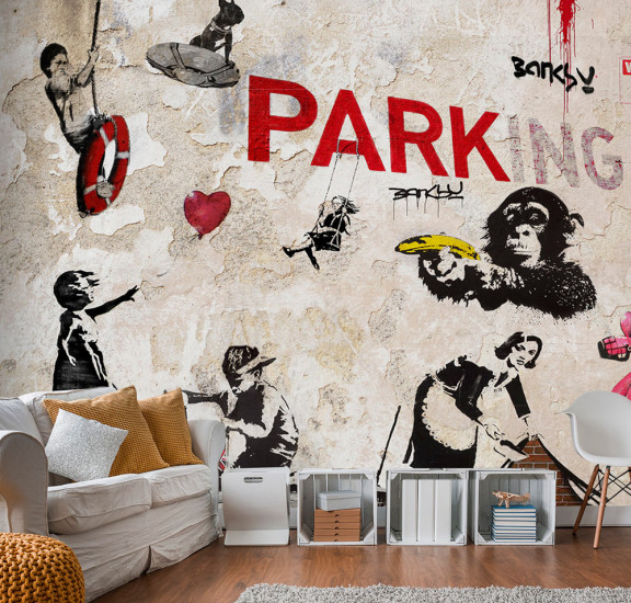 Фототапет - [Banksy] Graffiti Collage, Фототапети, Фототапети