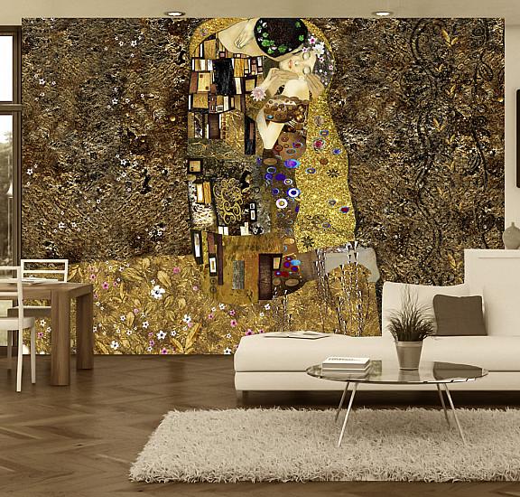 Фототапет - Klimt inspiration: Golden Kiss, Фототапети, Фототапети