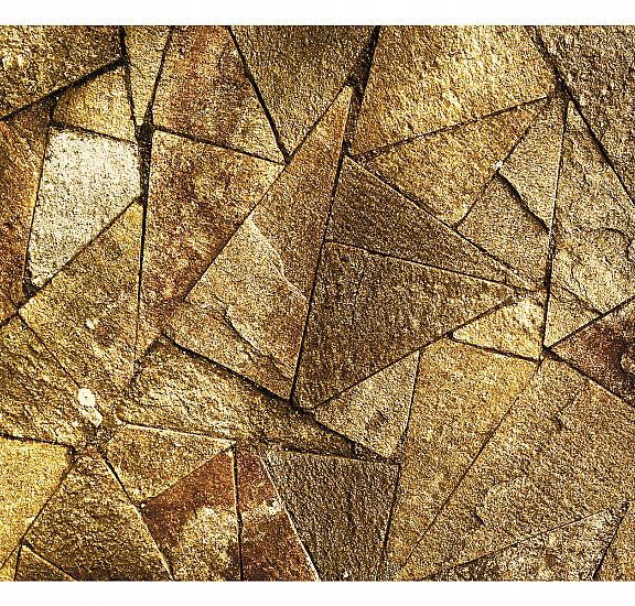 Фототапет - Pavement Tiles (Golden), Фототапети, Фонове и десени