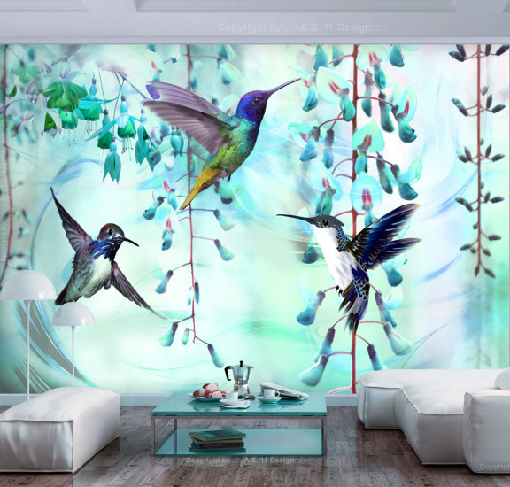 Фототапет - Flying Hummingbirds (Green), Фототапети, Фототапети