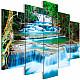 Картина - Waterfall in Kanchanaburi (5 Parts) Wide, Картини, Пейзажи