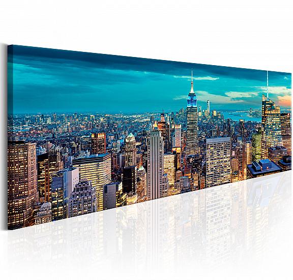 Картина - Blue Metropolis, Картини, Градове